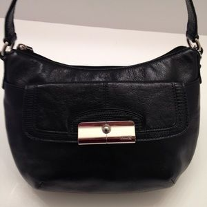 Black leather coach Kirsten bag
